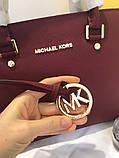 Сумка Майкл Корс Michael Kors Selma 28 см, натуральная кожа, цвет марсала, фото 2