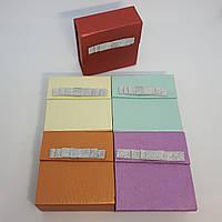 Картонная коробочка для ювелирных украшений на магните с бантом универсальная