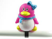 Дзвоник гумовий дитячий іграшка ПІНГВІН рожевий (32925)