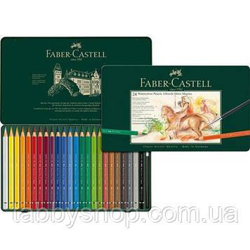 Акварельні кольорові олівці Faber Castell ALBRECHT DURER MAGNUS 116924 в дерев'яній коробці (24 кол.)