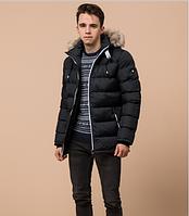 Куртка подростковая зимняя Braggart Youth графитовая с мехом топ реплика