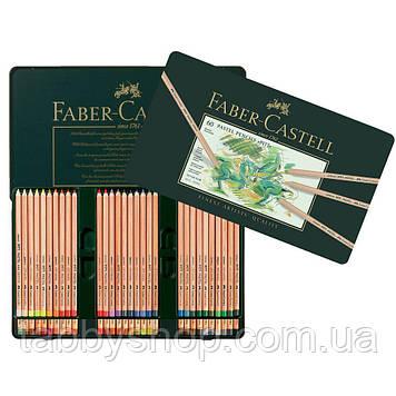 Пастельні кольорові олівці Faber Castell PITT 112160 в металевій коробці, 60 кол.