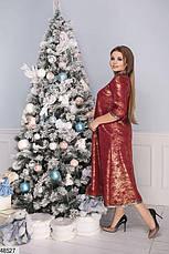 Нарядное вечернее женское платье красное большие размеры : 50-52,54-56,58-60, фото 2