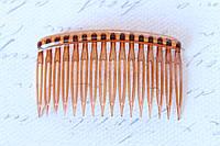 Гребешок для волос 8 см светло-коричневого цвета, фото 1