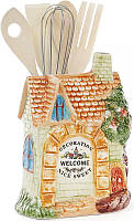 Подставка Домик в деревне 11 х 15 см для кухонных принадлежностей, КОД: 175885