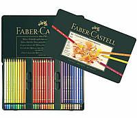 Набор цветных карандашей Faber Castell POLYCHROMOS 110060 в металлической коробке (60 цв.)