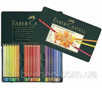 Набір кольорових олівців Faber Castell POLYCHROMOS 110060 в металевій коробці (60 кол.)