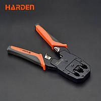 Кримпер профессиональный для обжимки коннектора RJ-45/RJ-11/RJ-9, 190 мм Harden Tools 660631