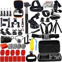 Набор принадлежностей для GoPro Hero 6/5/4/3/2 Комплект для набора Black Edition для корпуса SJCAM/M10/SJ4000/Eken/H8r - Черный 1TopShop