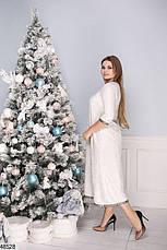 Нарядное вечернее женское платье цвета-электрик большие размеры : 50-52,54-56,58-60, фото 2