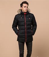 Куртка подростковая зимняя Braggart Youth черная с мехом топ реплика