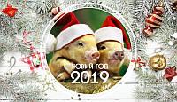 Вафельная картинка год свиньи 2019 (25)