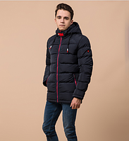 Куртка подростковая зимняя Braggart Youth темно-синяя топ реплика