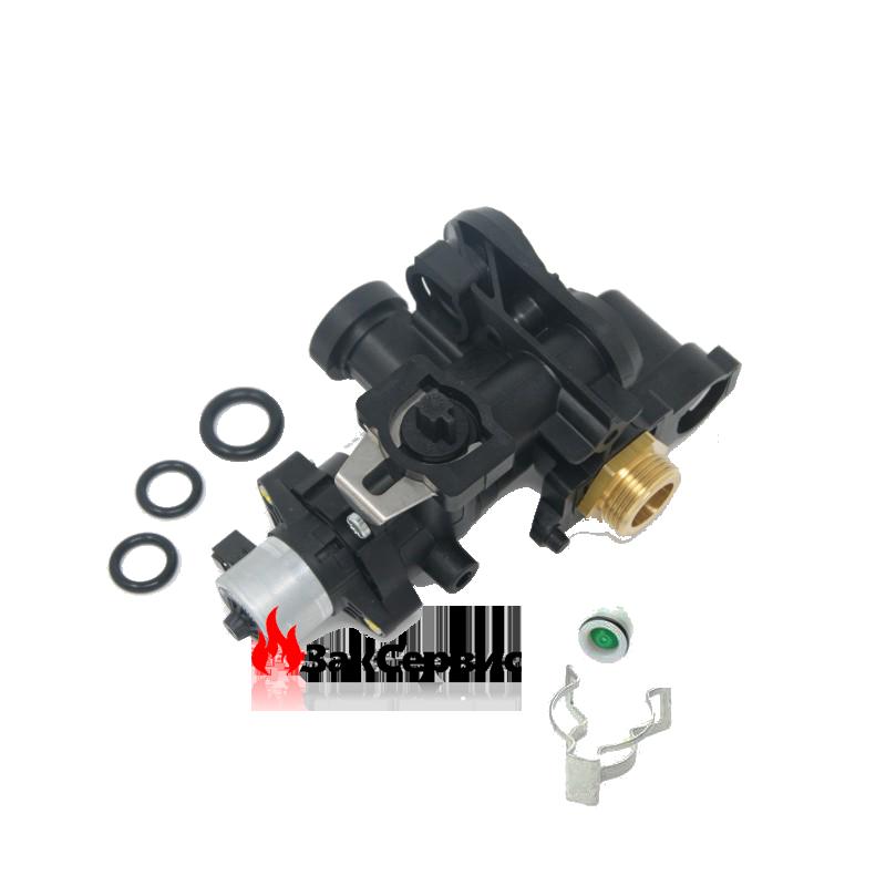 Трехходовой клапан в сборе на газовый котел Ferroli BlueHelix, Divatop, Divatop micro, Econcept tech39820442