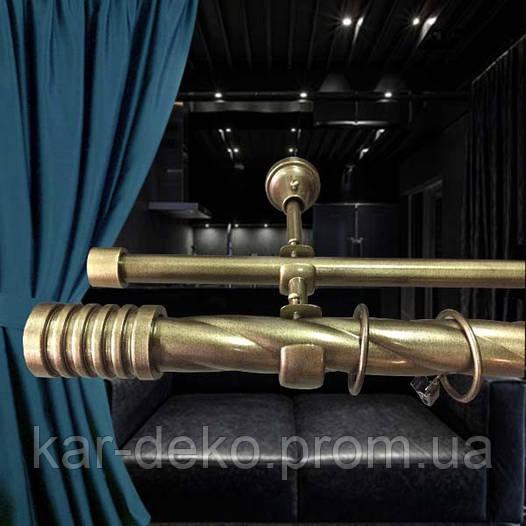 Карниз для штор 25 мм античная бронза