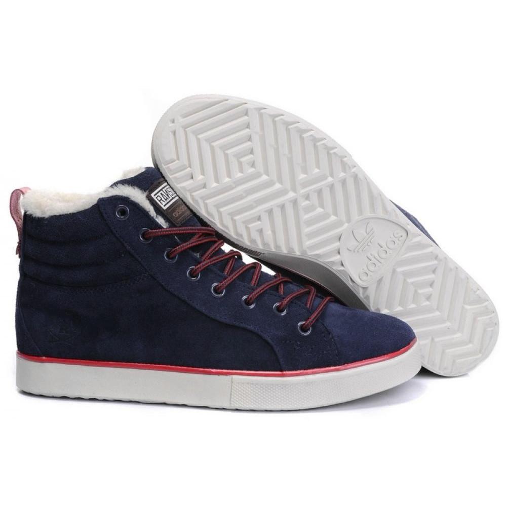"""Зимние кроссовки на меху Adidas Ransom Valley """"Синие"""""""
