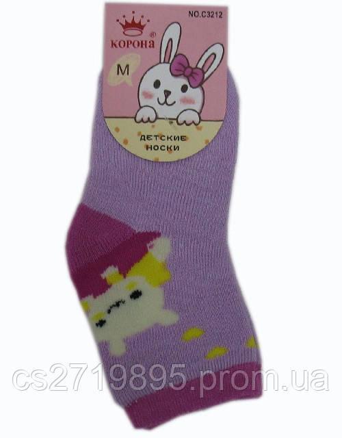 Носки детские КОРОНА махровые для девочки