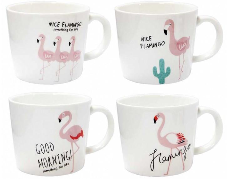 Чашка керамическая Розовый фламинго 200 мл