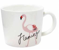 Чашка керамическая Розовый фламинго 200 мл, фото 3