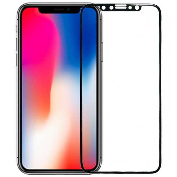 Защитное Стекло Remax Perfect Tempered Glass for iPhone X Black GL-09