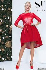Стильное вечернее платье цвета-красный размеры:42,44,46, фото 2