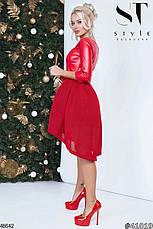 Стильное вечернее платье цвета-красный размеры:42,44,46, фото 3