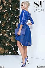 Стильное вечернее платье цвета-электрик размеры:42,44,46, фото 3