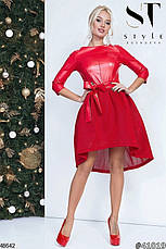 Стильное вечернее платье цвета-электрик размеры:42,44,46, фото 2