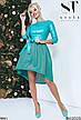 Стильное вечернее платье цвета-электрик размеры:42,44,46, фото 6