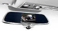 """Сенсорный видео регистратор зеркало CAR DVR K15 5"""" A66 на две камеры с камерой заднего вида"""