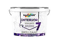 Краска интерьерная латексная Kompozit INTERIOR 7 матовая 4,2 л белый, фото 1