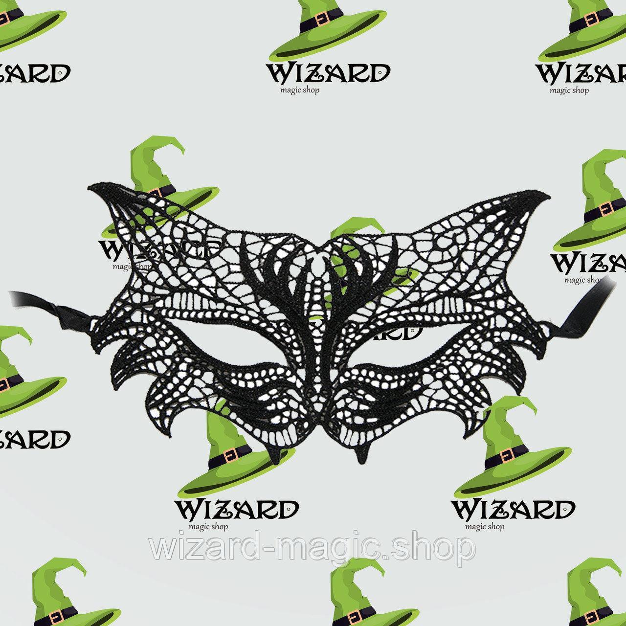 Кружевная маска Леди черная