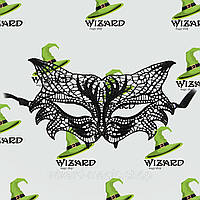 Кружевная маска Леди черная , фото 1