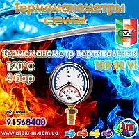 "Cewal TRR 80 VI термоманометр радиальный Ø80 1/2"" 120°С 4 бар"