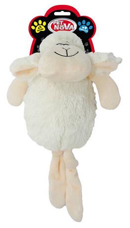 """Игрушка для собак """"Белая овечка"""" 35см"""