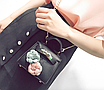 Сумка женская клатч мини с цветами детская Черный, фото 6