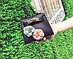 Сумка женская клатч мини с цветами детская Черный, фото 3