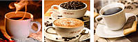 Алмазная вышивка Триптих. Пара чашек кофе KLN 30 х 60 см (арт. FS085) квадратные камни, фото 1
