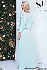 Нарядное вечернее платье макси изумрудного цвета размер универсальный 42-46, фото 3