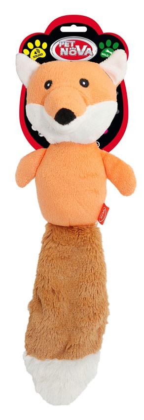 """Игрушка для собак Pet Nova """"Рыжая лисичка"""" 36см"""