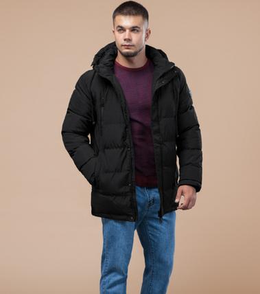 Молодежная зимняя куртка Braggart Youth черная топ реплика, фото 2