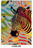 Ковёр цветной с рисунком Зебра, фото 1