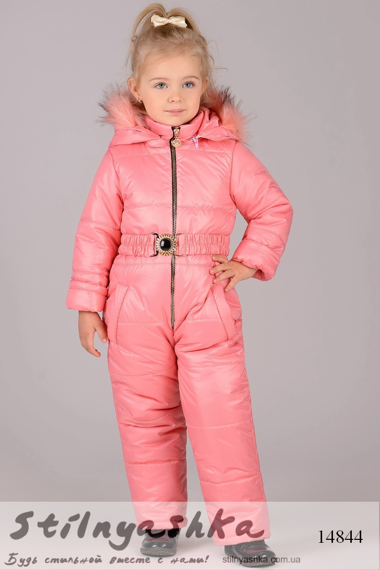Зимний комбинезон для ребенка персик, фото 1