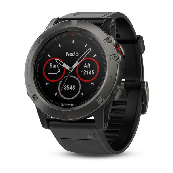 Спортивні годинник Garmin Fenix 5X Sapphire - 010-01733-01 Slate grey with black band