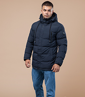 Молодежная зимняя куртка Braggart Youth темно-синяя топ реплика