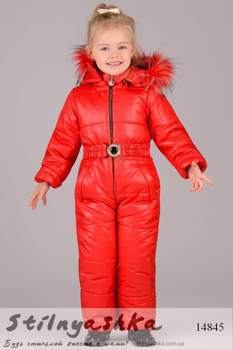 Зимний комбинезон для ребенка красный, фото 1