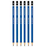 Карандаши простые набор Buromax Professional 6шт графитные деревянные для рисования 3В 2В В НВ Н 2Н, фото 3