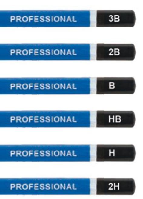 карандаши простые для рисования набор