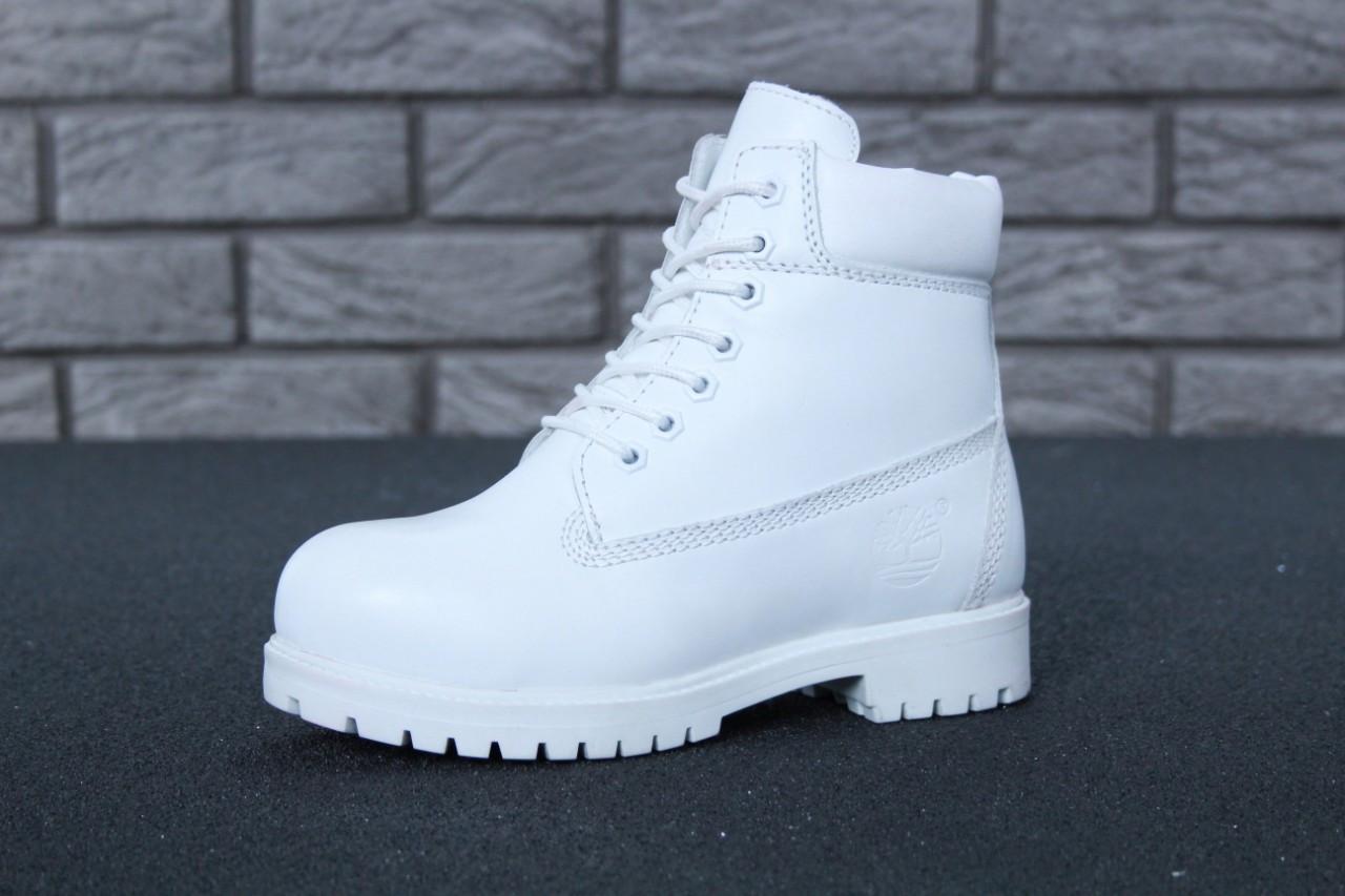 36b2cbf0d420 ... Зимние женские ботинки Timberland White Leather   Fur , фото 4 ...