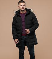 Молодежная зимняя куртка с опушкой Braggart Youth черная топ реплика